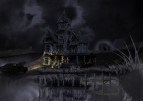 haunted house by WaffleGod