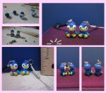 Piplup Couple Charm Set by minnichi