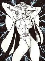 POWER GIRL PIN UP by AHochrein2010