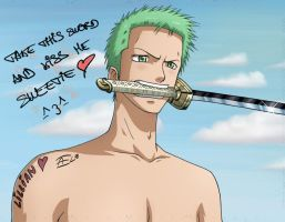 Zoro loves you nee-chan x3 by KaenDD