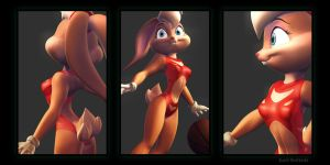 Lola Bunny Swimsuit 01 by KP-ShadowSquirrel