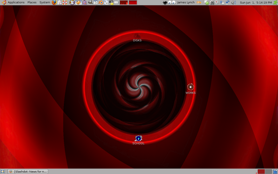linux desktop. by xakh