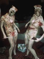 Silent Hill Nurses by Adnarimification