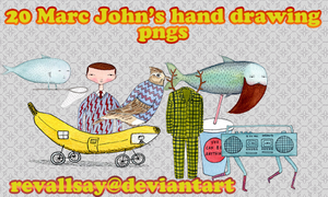 Marc John's hand drawing pngs by revallsay