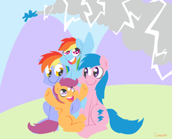Rainbow Family Gathering by FrogAndCog