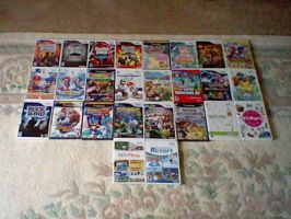 Collection of Wii and Gamecube games by SuperiorFeraligatr