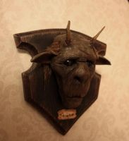 Faun trophy head by WunderDark