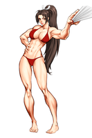 Muscle Mai WIP 3 by elee0228