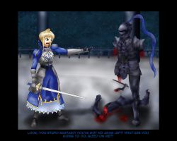 Saber and the Black Knight CG by Bloodlust-Kid