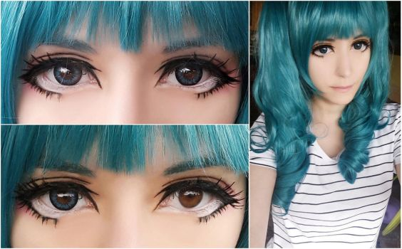 Geo Super Angel Blue lens review by TemeSasu