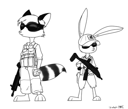 zootopian security contractors by Sandwich-Anomaly
