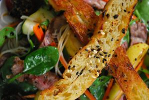 Angus Beef Spiced Pear Salad 5 by DulcetEpicure