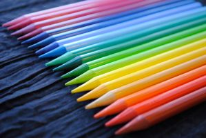 Rainbow Pencils by brandimillerart