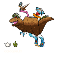 Coconut Tea Rex EXTINCT AUCTION CLOSED by Creamy-Galaxies