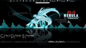 Blue Miku Rainmeter by TireWreck