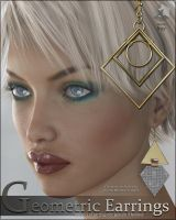 Geometrics Earrings for G3F by cosmosue