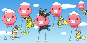 99 Red Balloons by pichu90