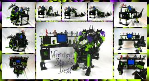 Lego System MOC: Wretched Stare's Desk by 3rdeye88