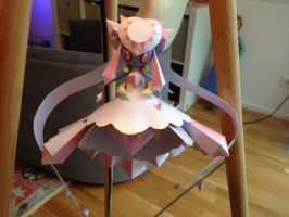 Mega Diancie Papercraft view1 by giden445