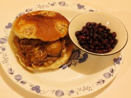 Slow Cooked Pulled Pork with Black Turtle Beans by Kitteh-Pawz