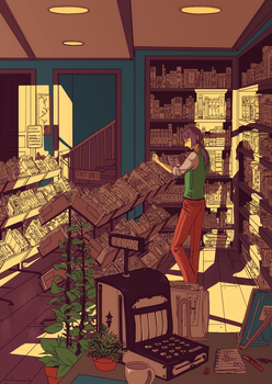 The Bookseller by applePAI