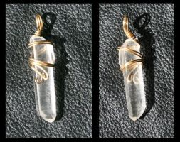 Quartz Crystal Wire Wrap by GeneveveX