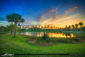 Sunset-at-Lake-in-Palm-Beach-Gardens-Florida by CaptainKimo