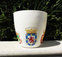 flower pot Santiago Chile, coat of arms by naraosart