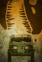 Jurassic Park Minimalist Movie Poster by manticor