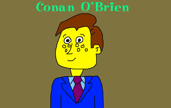 Conan O'Brien (Simpsons Style) by MikeEddyAdmirer89