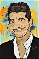 simon cowell from  american x factor by Sirenzo