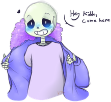 Sans x Frisk by KitaSpecies