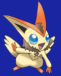Halloween Victini by AquaticMidnight