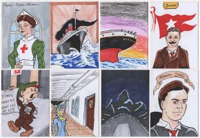 Titanic Sketch Cards by PlummyPress