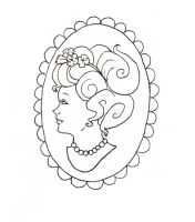 Cameo Tattoo Design by chocolatehomicide