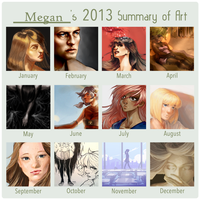 wowoahhahohoah 2013 art summary by Megano2525