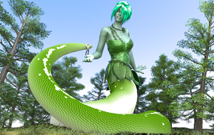 Forest Naga Foraging by BoomGTS