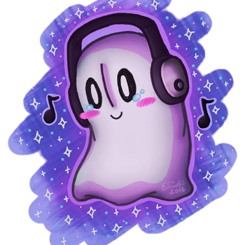 Napstablook by RadiantGradient