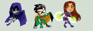 Sticker - Teen Titans by oneoftwo