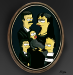crossover: Simpsons/Addams by Moonwayfarer