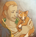 Anders. With a Kitten. by thecomfycat
