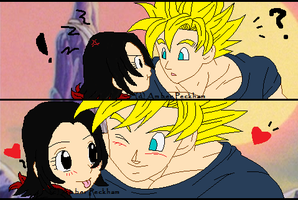 Goku and Scout by The-Bone-Snatcher