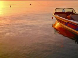 Dassia boats at sunrise 3 by melrissbrook
