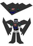A Stealth Bomber as a Transformer by Gamekirby