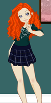 Modern Merida by Nyx-godess