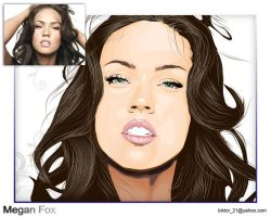 megan fox vector art by biktor21