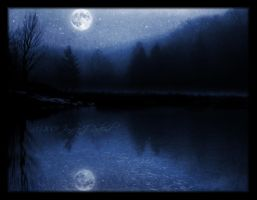 A Moon Over a Lake by Jenna-Rose