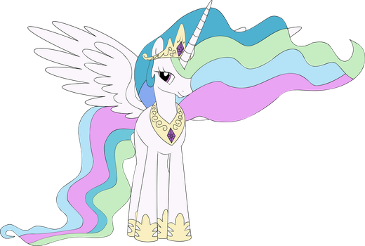 Celestia Vector Full - Colored by ung0dly