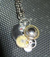-commission- steam-punk friendship necklace 1 of 2 by Galasdian