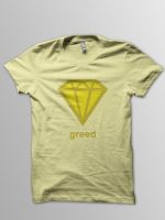 Greed Tee Design by aquanetnightmare